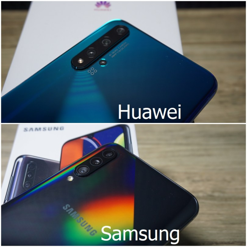 HUAWEI nova 5T vs Samsung Galaxy A50s back camera