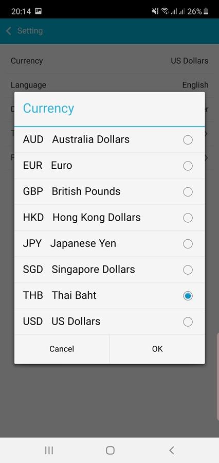 traveligo currency
