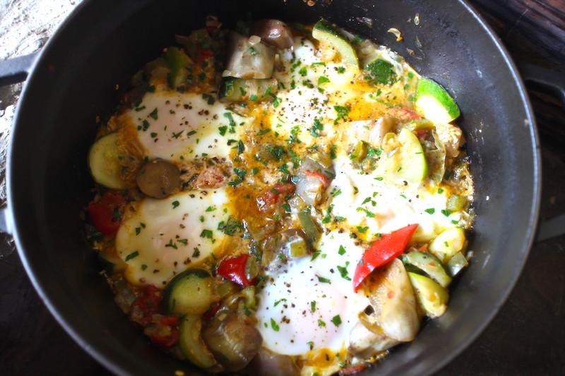 温夏野菜と卵
