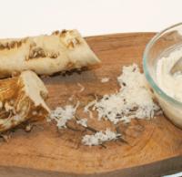 フレッシュホースラディッシュの食べ方(西洋わさび)