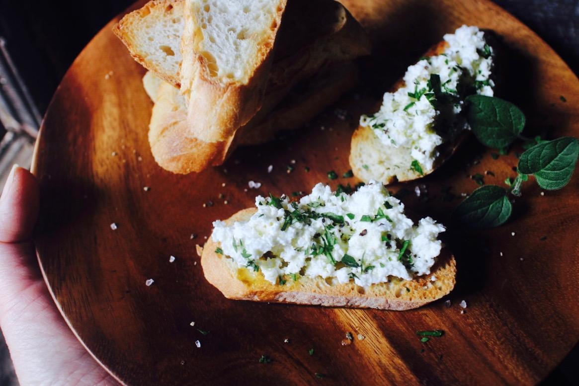 フレッシュチーズでアフタヌーンティー