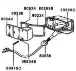 Mitsubishi Jeep Lighting System Parts