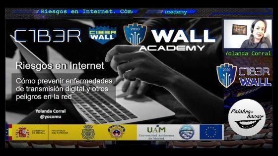 C1b3rWall Academy charla sobre seguridad digital y riesgos en Internet