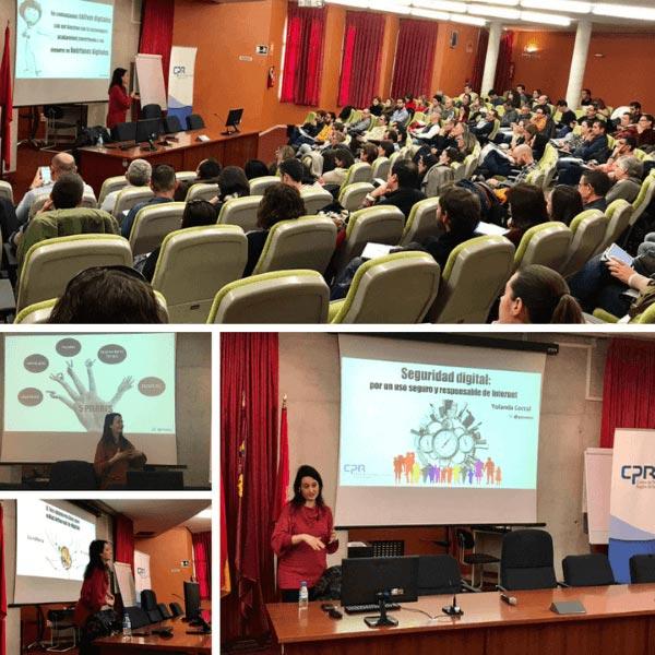 Charla Seguridad Digital en CPR Región de Murcia.