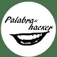 Logotipo de Palabra de hacker, ciberseguridad de tú a tú