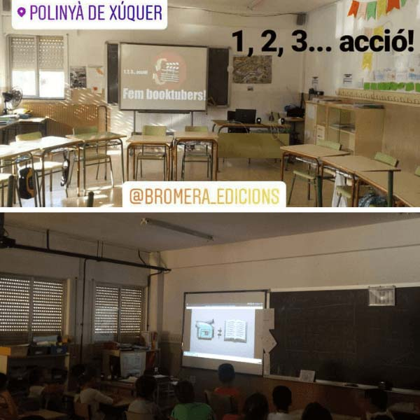 Taller Booktubers en un colegio de Polinyà de Xúquer