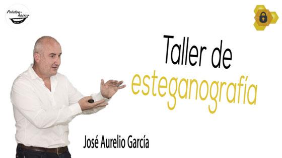 Taller de esteganografía de José Aurelio García en HoneyCON.