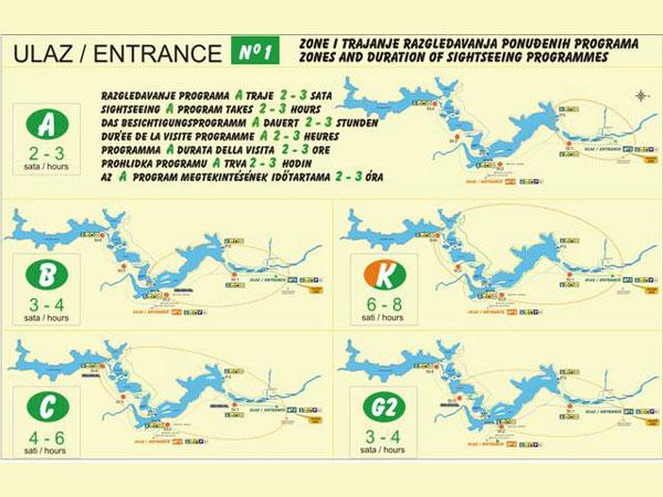 Plitvice rota haritaları