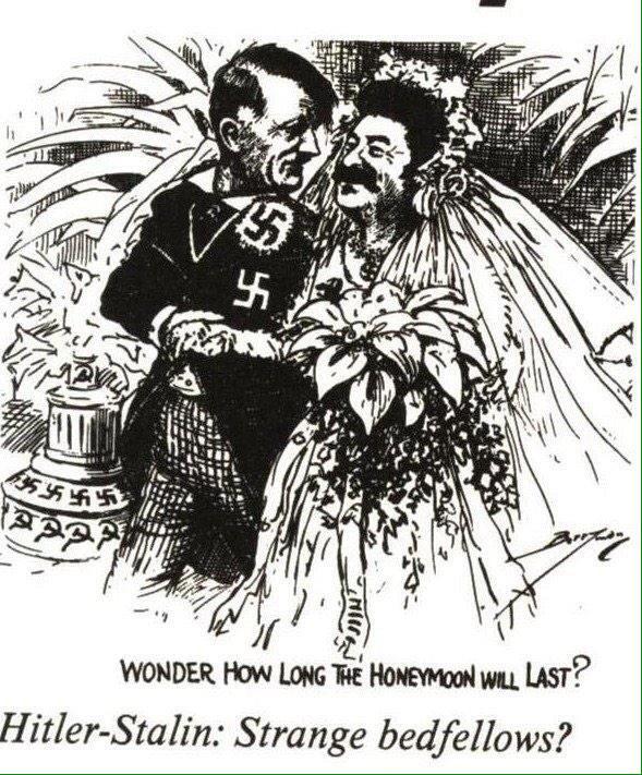 Resultado de imagen de firma tratado entre Stalin y Hitler