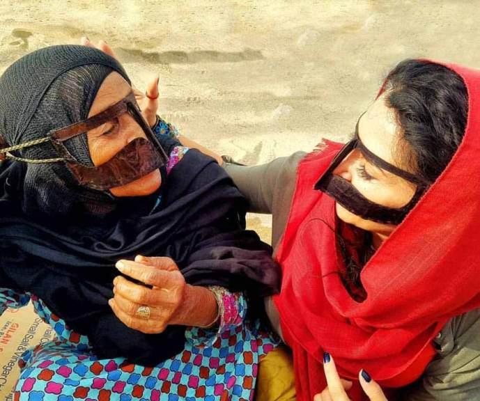 İran Keşm adası maskeli kadınlar