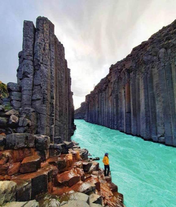 Stuðlagil Kanyonu Doğu İzlanda