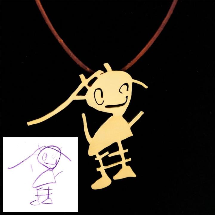 Vaikų piešinius paverčia juvelyriniais dirbiniais (1)