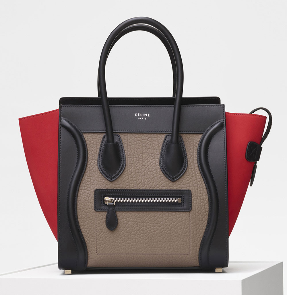 Celine-Micro-Luggage-Tote-Tricolor-Taupe-3350 - Best Replica Bags