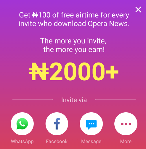 opera unlimited free airtime