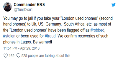 London used phones