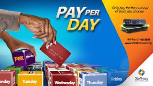 Startimes pay per view, pay per day
