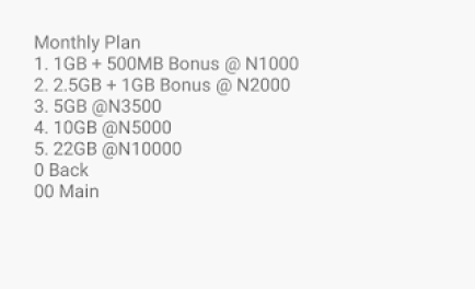 MTN data plans and prices