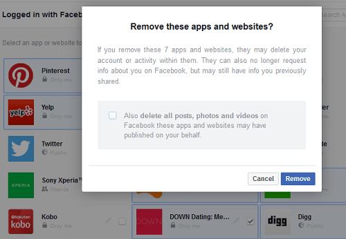 facebook app removal
