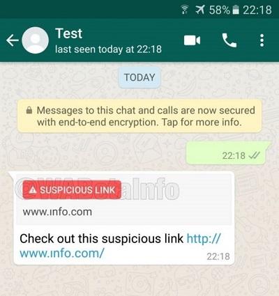 suspicious link detection