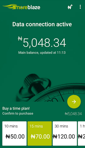 timely based data plan