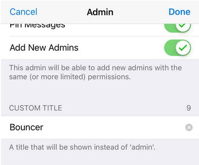 telegram update admin title