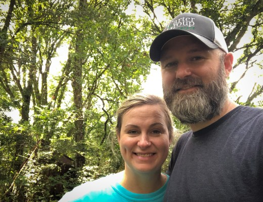 Kyle and Megan under the oaks