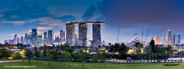 Another Panoramic Skyline of Singapore CBD