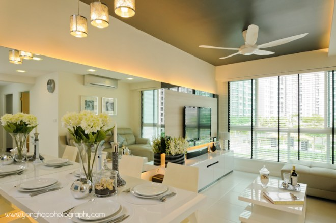 Dining & Living ID by Icon Interior Design by YongHao Photography