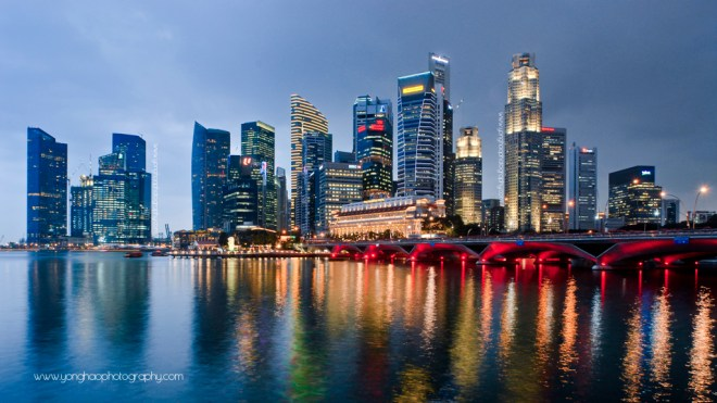 Singapore CBD Skyline| Aspect Ratio 16 x 9