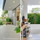 Outdoor Verrtical Garden blends in beautifully with the indoor area By YongHao Photography