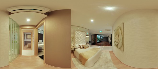 UEL Austville EC showflat virtual tours - master bedroom by YongHao Photography