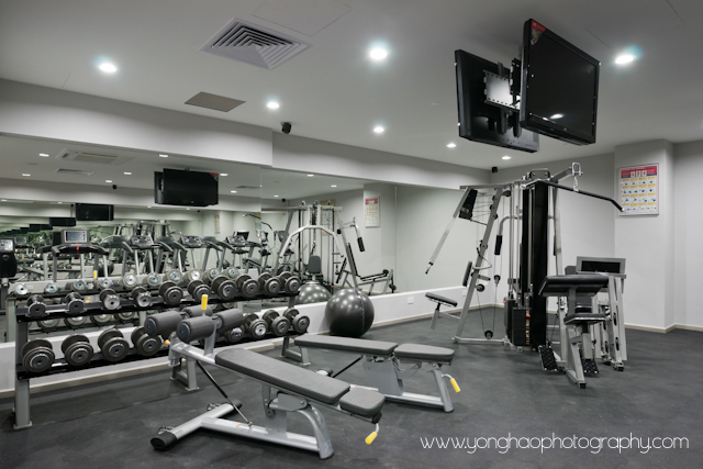 Gym, commercial space, interior photography