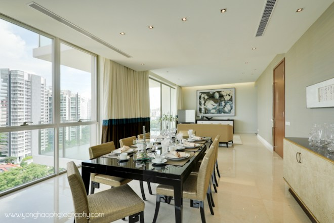 Dining towards living area - Interior photography by YongHao Photography