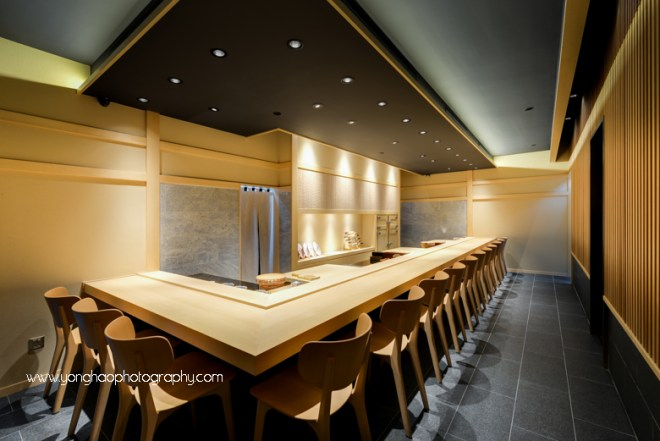 hashida, mandarin gallery, japanese restaurant, fine dining, interior photography, Singapore, orchard road, yonghao photography