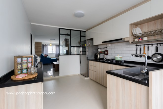 yonghao photography, interior photography, kitchen, hdb, 1.01 interior design, photography services, singapore