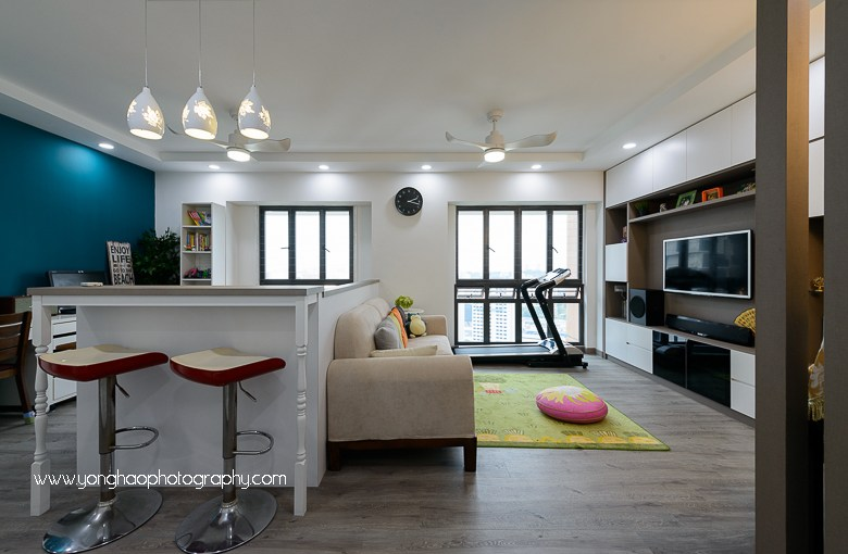 Interior Photography of Residential unit at Skyville@Dawson for Sky Design & Renovation