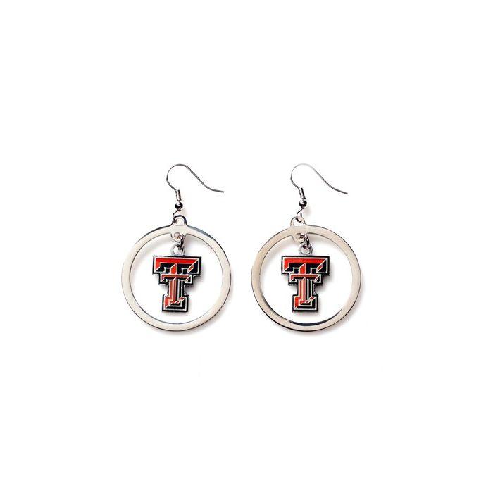 NCAA Texas Tech Earrings Hoop, Licensed