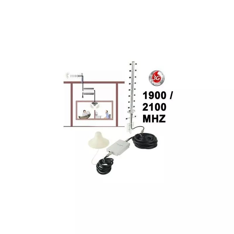 Kit antenne amplificateur répéteur 3G signal GSM longue portée