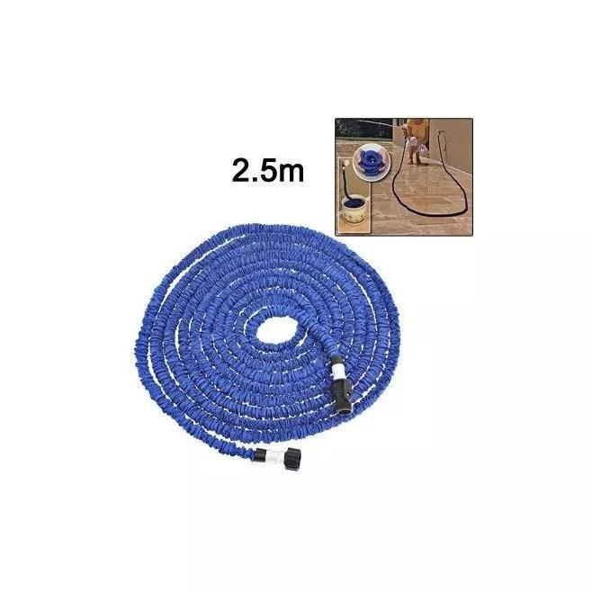 tuyau d arrosage 2 5 m extensible 8 metres retractable anti nœud bleu