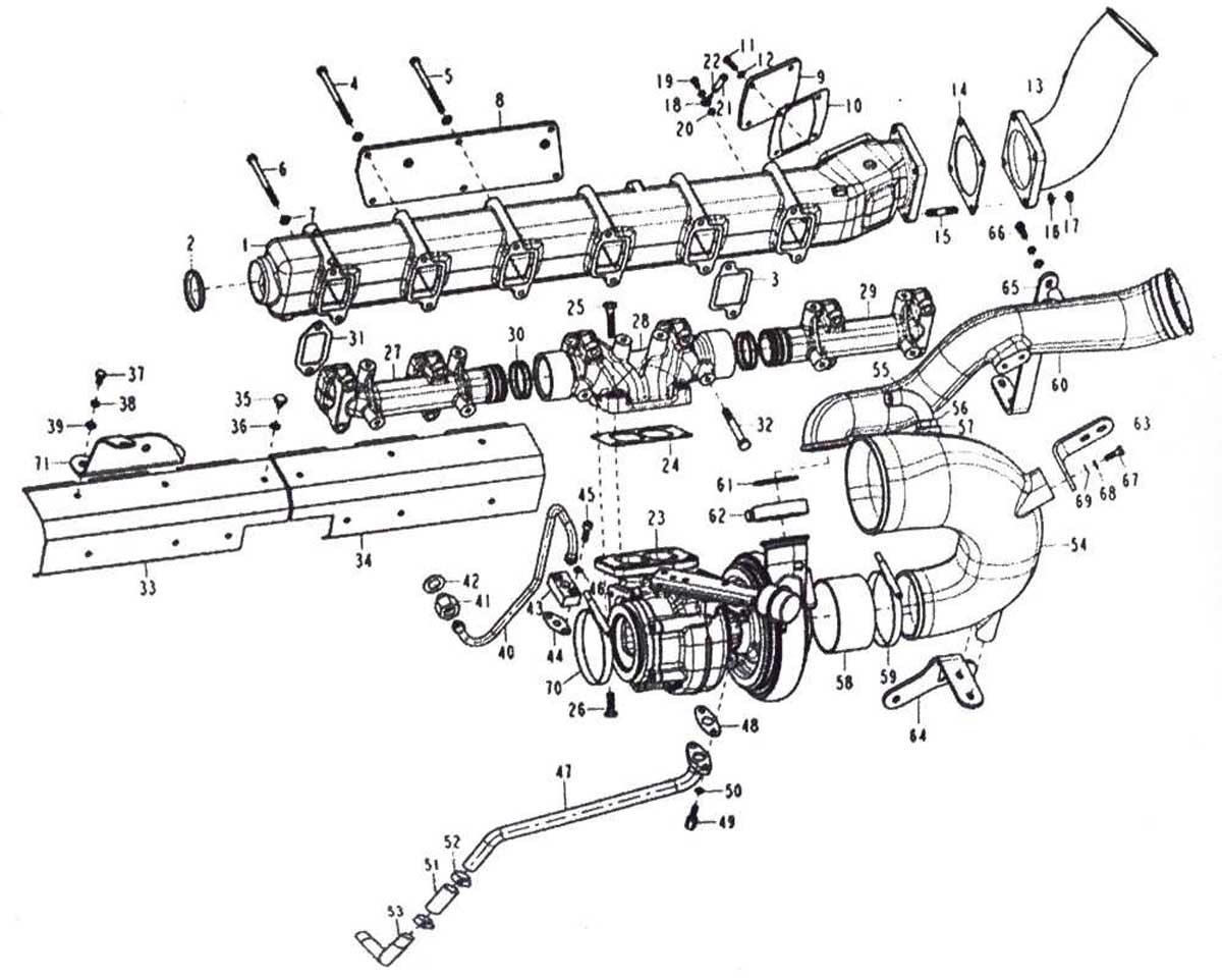 INTAKE & EXHAUST SYSTEM, SINOTRUK D12 EURO-III ENGINE
