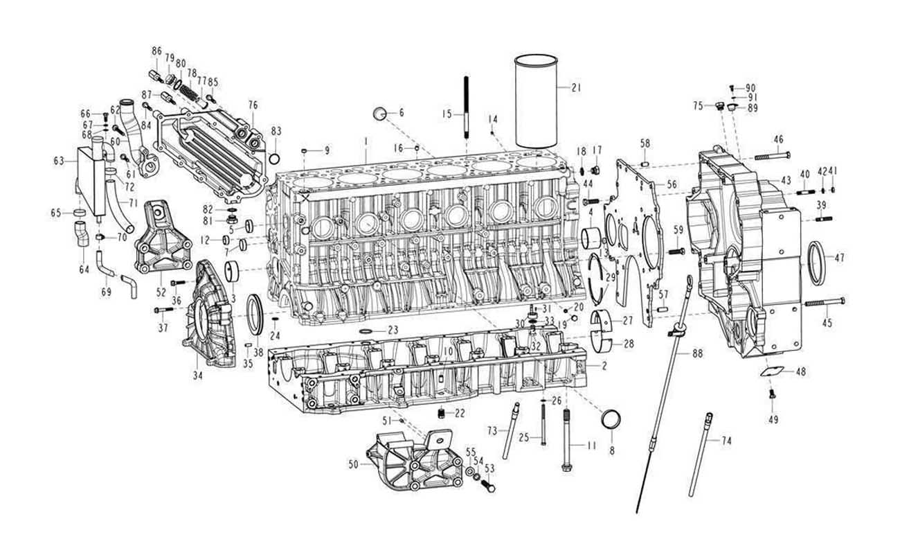 CYLINDER BODY, SINOTRUK D12 EURO-III ENGINE PARTS CATALOG