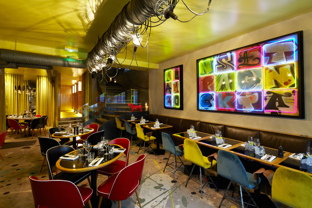 Ambiance Rtro Chic Pour Le Restaurant Le 107 Neuilly