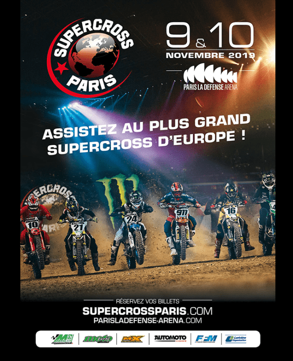 Supercross 2019 a Paris la defense arena
