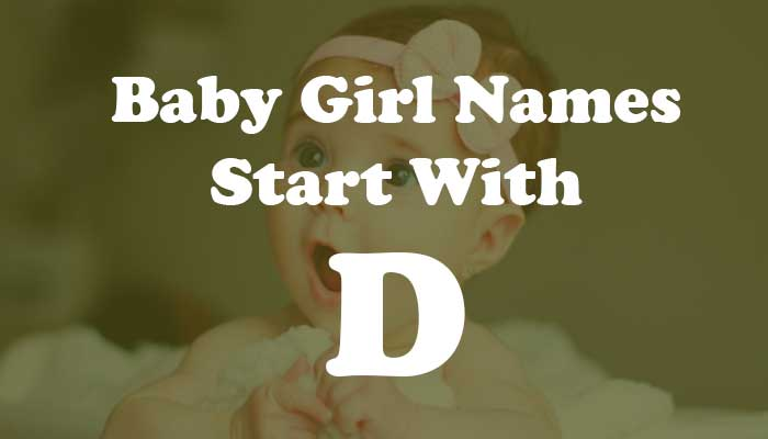 Baby Girl Names Start with D