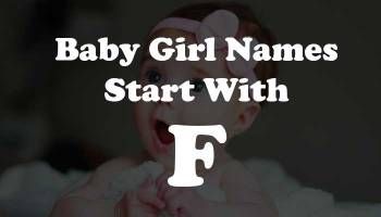 Baby Girl Names Start with F