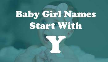 Baby Girl Names Start with Y