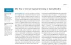 [논문] 정신 건강 스타트업에 대한 벤처캐피털의 투자 급증