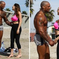 Kelly Brook's boyfriend David McIntosh wears world's shortest shorts and shows off ripped body on Muscle Beach