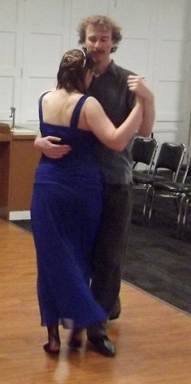 Me dancing tango with my boyfriend Noah, in summer of 2014. This was one of the last times I danced without fear of injury.