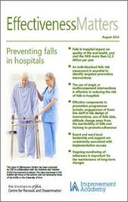 Effectiveness Matters Preventing falls in hospitals  Centre for Reviews and Dissemination The